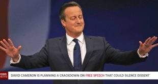 David Cameron is planning a crackdown on free speech that could silence dissent