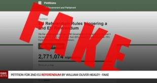 2nd Referendum Fake