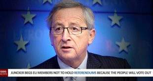 Juncker Begs EU Members Not To Hold Referendums Because The People Will Vote Out