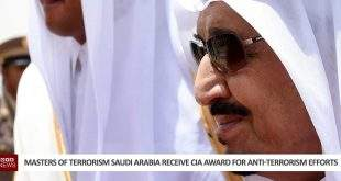 Masters Of Terrorism Saudi Arabia Receive CIA Award For Anti-Terrorism Efforts