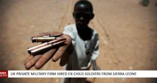UK private military firm hired ex-child soldiers from Sierra Leone
