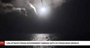 USA Attacks Syrian Government Airbase With 59 Tomahawk Missiles