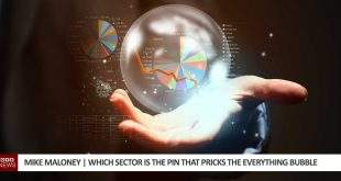 Which sector is the pin that pricks the everything bubble?